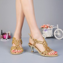 Women's shoes 2017 water drill sandals, women's heel wedding shoes and sandals, manufacturers a generation(China)
