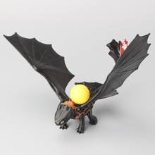 "Hot Sale How to Train Your Dragon 2 Night Fury Toothless PVC Action Figure Toys Dolls 8"" 20CM"
