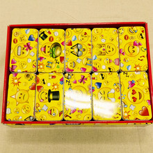 Free Shipping!10pc/lot Smile Design Tin Box Rectangle Shape Gift Box Metal Storage Case Iron Jewelry Case Candy Chocolate Box(China)