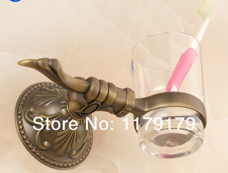 Copper antique  bathroom cup &amp; tumbler holder, Antiquesingle toothbrush holder  bathroom accessories 28984AN<br>