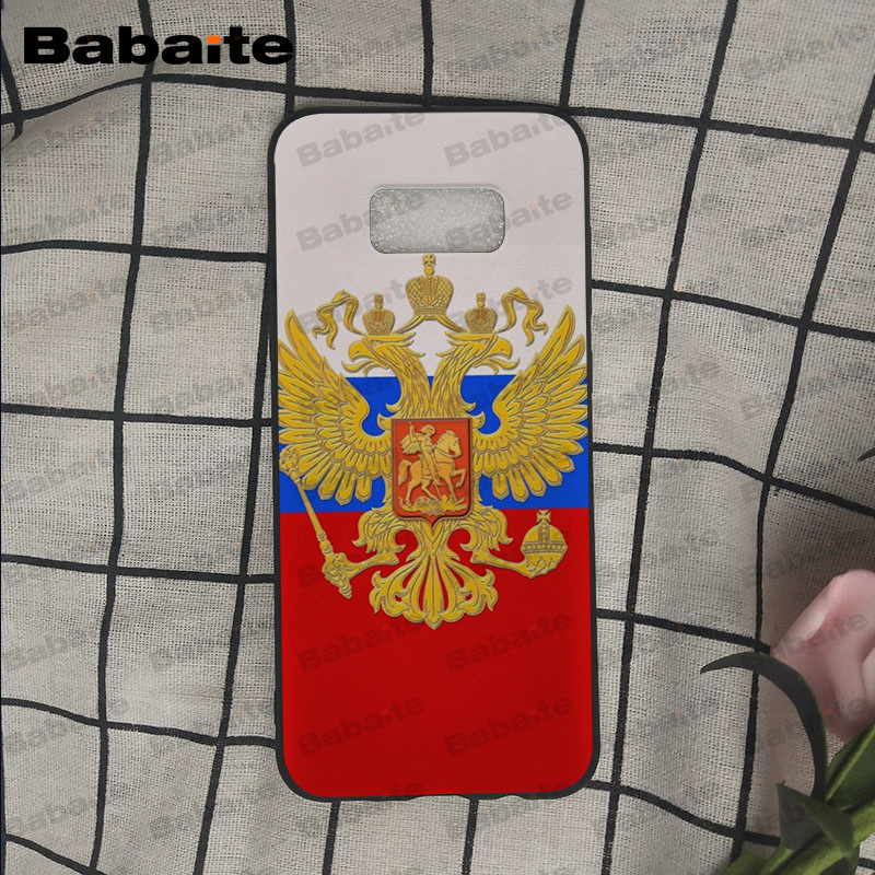 the Flag of Russian Federation Soft silicone black Phone Case For Samsung Galaxy s9 s8 plus note 8 note9 s7 s6edge Cover Babaite