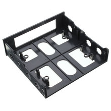 "3.5"" to 5.25"" Floppy to Optical Drive Bay Mounting Bracket Converter for Front Panel Internal Hub Card Reader"