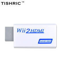 TISHRIC Special Offer Male-female For Wii To Hdmi Adapter 480P 1080P Upscaler 3.5mm Jack Audio For Wii2hdmi Converter(China)