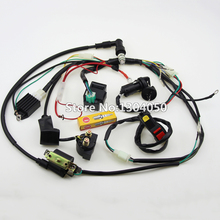 Full Electrics Wiring Harness Loom Solenoid Coil Regulator CDI 50c 70cc 110cc 125cc Dirt Pit Trail Bike