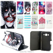 Cartoon Design Magnetic Holster Stand Flip Leather Cover case for Samsung Galaxy Core Prime LTE G360 G360H cell Phone Cases