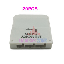 20PCS 1 MB Memory Card White For Playstation 1 One PS1 PSX Game System(China)