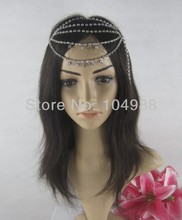 FREE SHIPPING 2014 Style HE16 NEW BRIDE FASHION SIX LAYERS SILVER RHINESTONES CIRCLET HEAD CHAIN NECKLACE JEWELRY