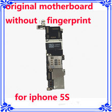 IOS system board for iphone 5S 16GB original motherboard without fingerprint unlocked main board OEM logic board