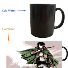 Attack On Titans levi mugs morphing coffee mug heat reveal Heat sensitive mugs magical  heat-reactived wine