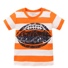 US UK top brand Summer Kids Children boys printing Rugby Football pure cotton short sleeve t shirt shirts for baby boys kids(China)