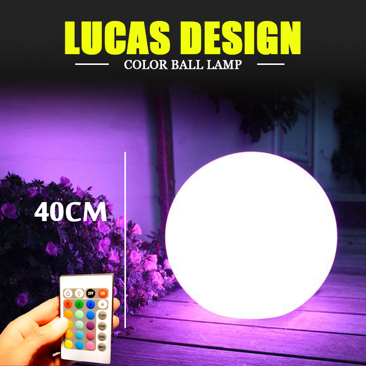 Dia40cm/15.75 LED Garden Ball Lamp Christmas Decorative Orb Lamp LED Novelty Shpere Free Shipping<br><br>Aliexpress