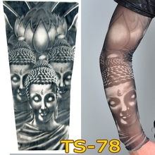1 pc tattoo sleeves W-99 styles elastic Fake 100% nylon Arm stockings Chinese Buddha design Statoo COOL men sexy women hot sale