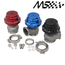 Blue TL V44 MVR 44mm V Band External Wastegate Kit 24PSI Turbo Wastegate with V Band Flange with Logo
