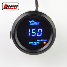 Dragon gauge 52mm Black Shell Blue Digital LED backLight Car Moter Water temperature gauge  Water temp auto gauge Free shipping