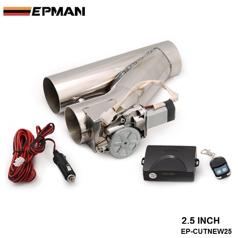 """EPMAN - EXHAUST CATBACK TURBO ELECTRIC E-CUTOUT 2.5"""" Y-PIPE WITH REMOTE For BMW E30 M20 325 325i 6cy 1988-1993 EP-CUTNEW25"""