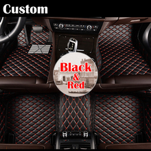 Special custom made car floor pad mats for Cadillac ATS XTS SRX SLS Escalade car-styling Waterproof leather carpet liners