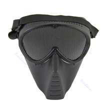 Paintball Airsoft Gear Full Face Eyes Nose Wear Protector Safety Guard Mesh Mask-F1FB