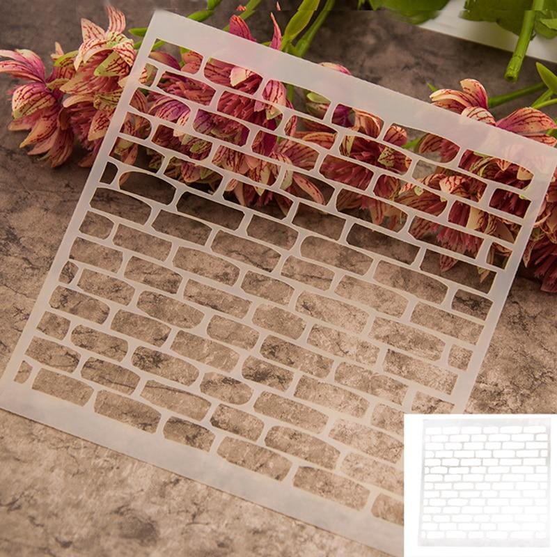EZLIFE 13*13cm Scrapbook scrapbook DIY photo album card covered spray template tool spray painted bricks WN0437<br><br>Aliexpress