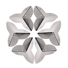 HOT 8Pcs Vintage Metal Decorative Corner Bracket For Chest Case Box Mini Metal Corner Protector Crafts Hardware
