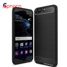 Carbon Fiber Phone Cases For Huawei P10 P9 Lite Cases Soft Anti-Knock Cover For P10 Plus P9 Plus P10 Capa Coque(China)