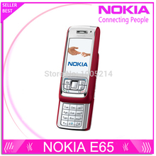Refurbished Nokia E65 Mobile Phone Unlocked Original Phone Gsm Cell Phone Quadband 3G WIFI Bluetooth Email Mp3 free shipping