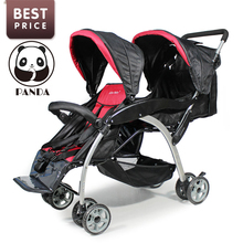 Babypanda store baby tricycle twin strollers for two babies luxury brand children bicycles with twins car seat the stroller twin