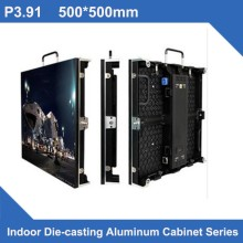 TEEHO P3.91 SMD indoor 500*500 LED Display DieCasting Cabinet panel indoor led video rental advertising wedding hotel stadium