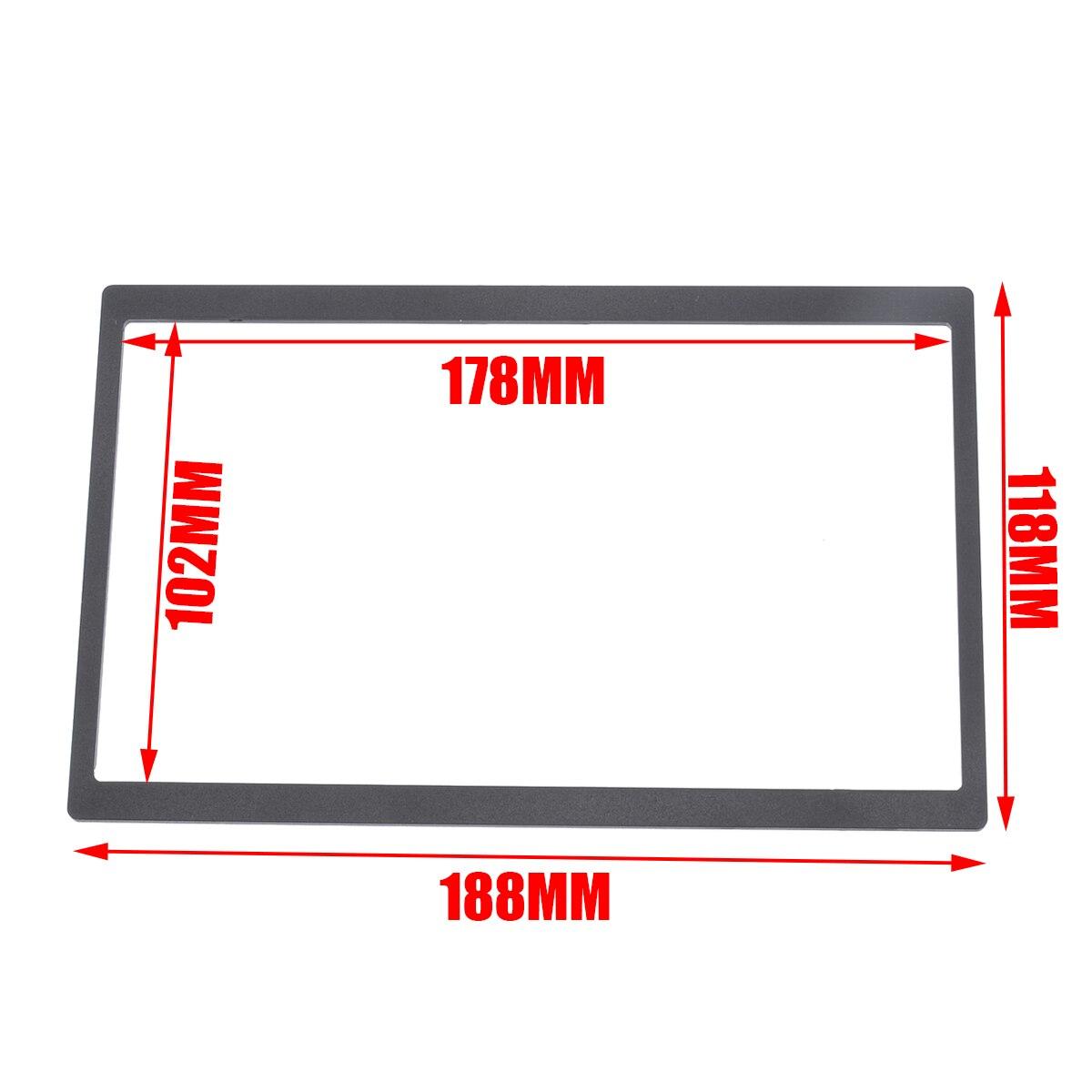 New Arrival 2Din Install Dash Bezel Panel Mounting Frame for Car Stereo Radio DVD Player For V-W T-ransporter P-OLO G-olf MK4