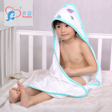 Soft Baby Hooded Towel Newborn Muslin Squares Hooded Bamboo Cartoon Towel  Boys Towel Bamboo Cloth Wipes Bath Towels 85cm*85cm