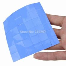 36PCS Lot 15X15x0.5MM Blue SMD DIP IC Chip Conduction Heatsink Pad Thermal Paste Compounds(China)