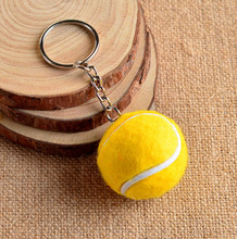 6 Color Key Chain Tennis Ball Metal Keychain Car Key Chain Key Ring sports chain sliver color pendant Hot Selling #17112(China)