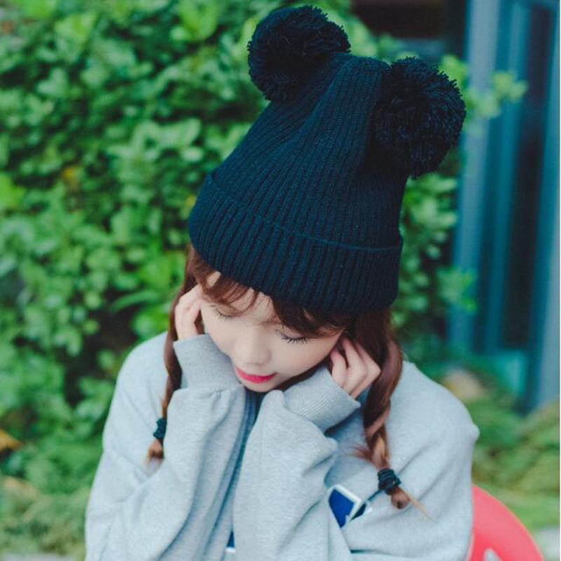 Korea New Cute Pointy Top Knitted Strip Hat Wool Hat for Women  Beanies BoneÎäåæäà è àêñåññóàðû<br><br><br>Aliexpress
