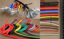 18AWG 2.3mm OD Flexible Soft Tinned Copper Silicone Wire RC Cable UL High Temperature 1 Meter