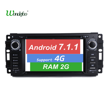 Android 7.1 CAR DVD player For Jeep Grand Cherokee Commander Compass Patriot Wrangler auto dvd RAM 2G ROM 32G radio navigation