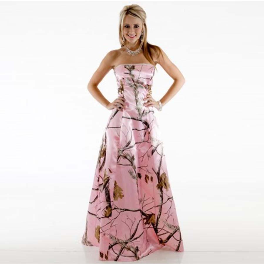 Online buy wholesale patterns bridesmaid dress from china patterns custom made camo bridesmaid dresses pink strapless pattern vestido de festa de casamento plus size a ombrellifo Images