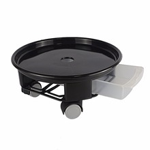 Heavy Duty Round Plant Caddy with Wheels and Water Container, Black, 9.5Inch/12Inch/14Inch
