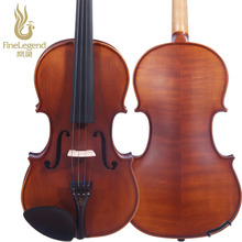 Free Shipping FineLegend 4/4 Full Size Ebony Parts Handmade Professional Violin with Bow, Case, Rosin LCV1124