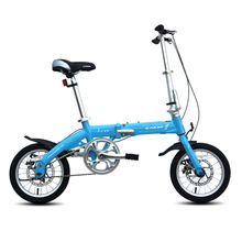 2016 14inch Folding Bike Light Aluminum Alloy cycling bicycle for Youth with disc brake Student bike(China)