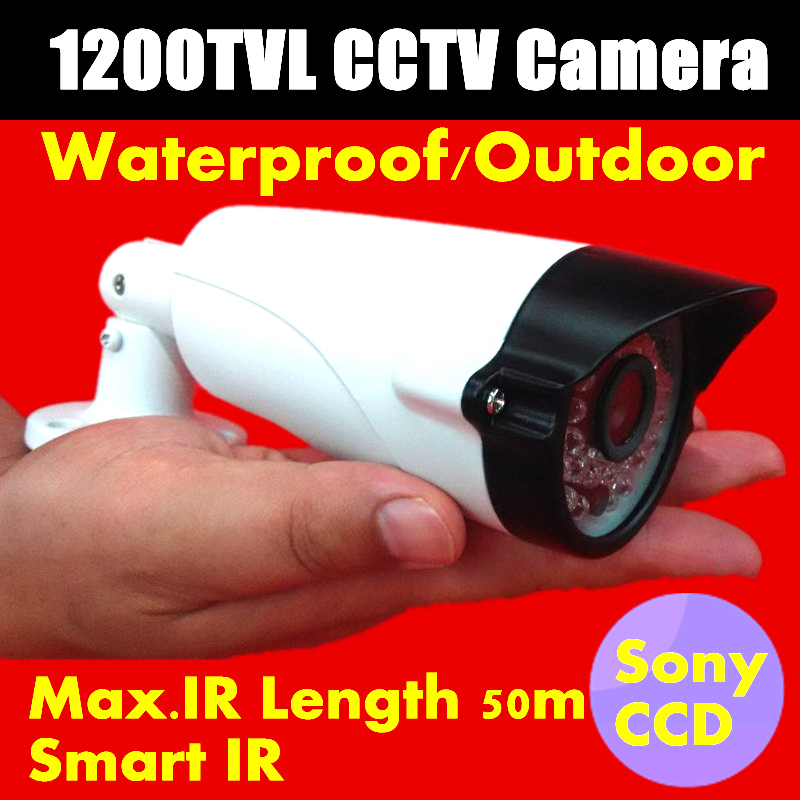 Crazy Sales NEW HD 1/3 Sony ccd 1200TVL Mini CCTV Camera Waterproof IR Security Camera 36 LEDS IR distance 50M<br>