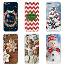 "For Apple iPhone 7 Plus Cover Phone Case 5 5C SE Shell 4.7"" 6 6S 5.5 Inch Transparent Cover Soft Silicon Christmas Day Pattern"
