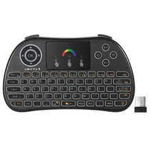 2.4GHz RGB Colorful Backlit Wireless Keyboard H9 with Touchpad Mouse Remote Control mini i8 3 color for Android TV BOX HTPC PC