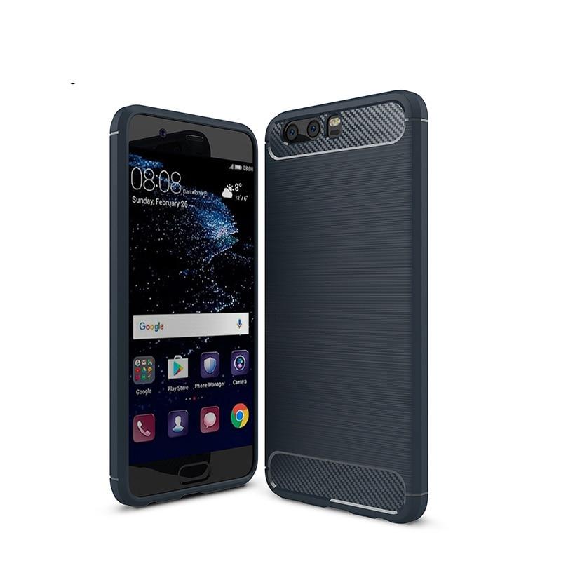 carbon fiber brushed silicone case huawei P10 Plus (13)