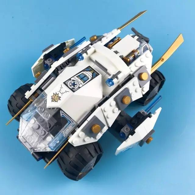 360pcs Titanium Ninja Tumbler Zane and 2 Building Blocks Figures DIY Model Compatible Lepins Brick Toy<br>