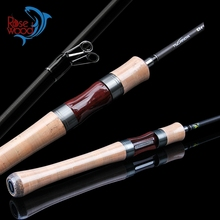 Rosewood 2SEC Carbon Spinning Fishing Rod UL Power 1-8g Lure Weight Ultra Light Spinning Rods Best Spinning Lure Rod(China)