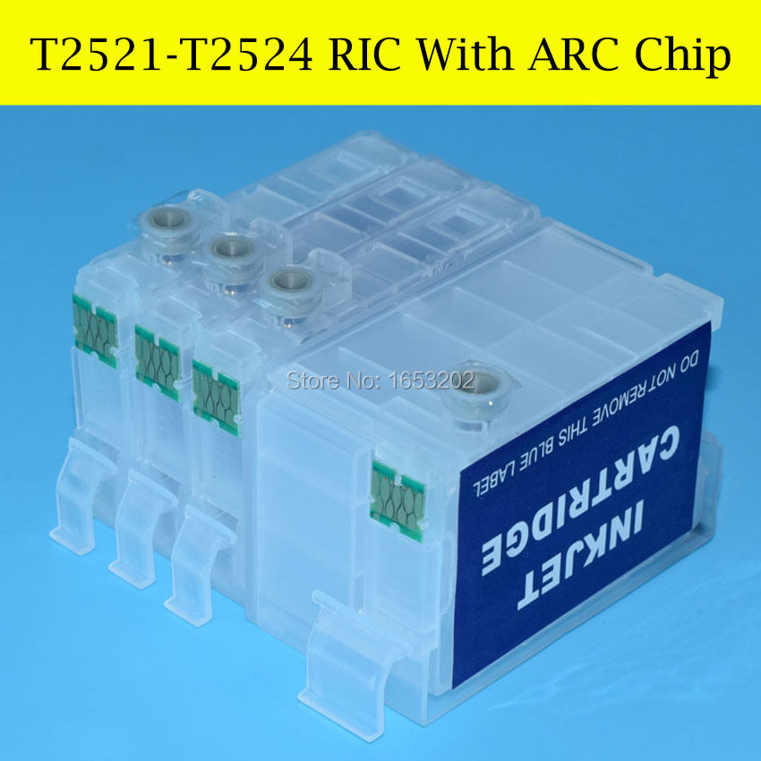 5 Sets/Lot Refill Ink Cartridge For EPSON T2521-T2524 T252 252 With ARC Chip<br><br>Aliexpress