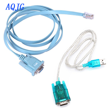 HDE USB to Serial Interface Cable with Serial to RJ45 Console Adapter Cable for Cisc0 Routers  AQJG
