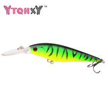 1PCS 11cm 10.5g Minnow fishing lure crankbait iscas artificiais Fishing wobblers 6# hook 3D eyes leurre Fishing Tackle WQ73