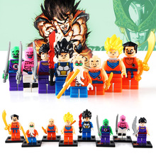 8pcs/lot Dragon Ball Z Figure Son Goku/Vegeta/Master Roshi/Krillin Set Models Children Gifts  Toys Building Block