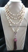 "free shipping N3263 freshwater pearl &garnet leopard necklace 70"" nature N Discount"