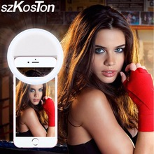 LED Ring Flash Fill Light Clip Photo Camera Selfie independent light For Cell Phone Smartphone Self-timer / Beauty / Light(China)
